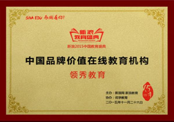 2015中国品牌价值在线